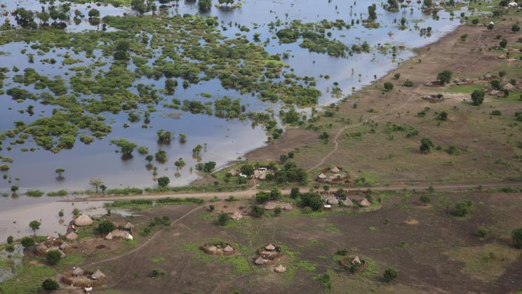 Devastating flooding in Akobo, South Sudan, a country where a United Nations Peacekeeping Operation is present. Flickr/UNMISS